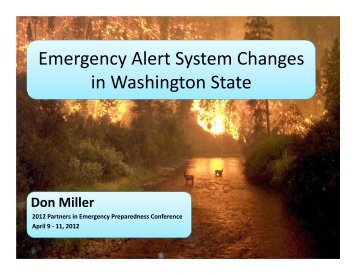 Emergency Alert System Changes in Washington State - WSU ...