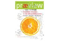 præview 01/2010 Gesundes Arbeiten in der Wissensökonomie ...