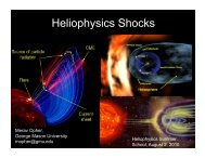 Shocks in Heliophysics