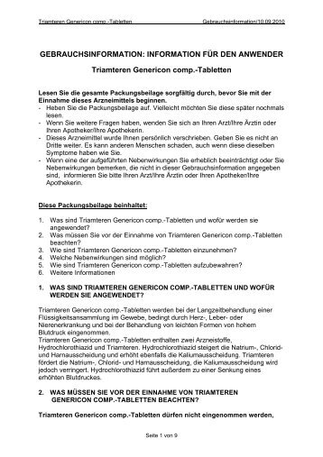 GEBRAUCHSINFORMATION - Genericon Pharma GesmbH