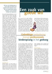 Professionele kinderopvang in het gedrang - Weliswaar
