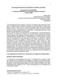 1 Accompagnement éducatif, migrations et identités culturelles - Injep
