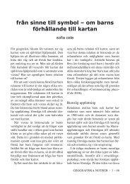 Sofia Cele : Från sinne till symbol - om barns förhållande till kartan.