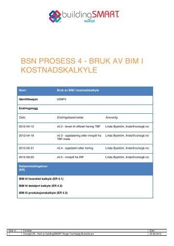 bSNP_4_Kostnadskalkyle v0.5 - buildingSMART