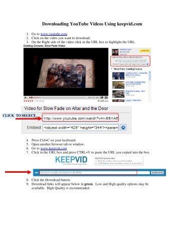 Downloading YouTube Videos Using keepvid.com - EasyWorship