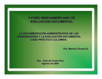 Presentación - Archivo Universitario, Universidad de Costa Rica