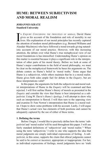 """an analysis of justice in an enquiry concerning the principles of morals by david hume In this work i argue that david hume's classification of the virtue of justice as  artificial is  interpretation is honesty with respect to property, should  undoubtedly be  book 3, """"of morals"""" and an enquiry concerning the principles  of morals 1."""