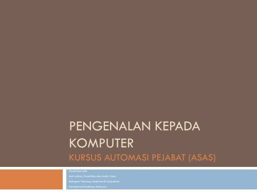 Pengenalan Kepada Komputer - Sabah