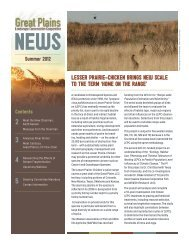 GPLCC News Summer 2012 - Great Plains Landscape ...
