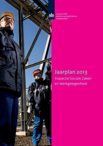 jaarplan 2013 (pdf) - Inspectie SZW