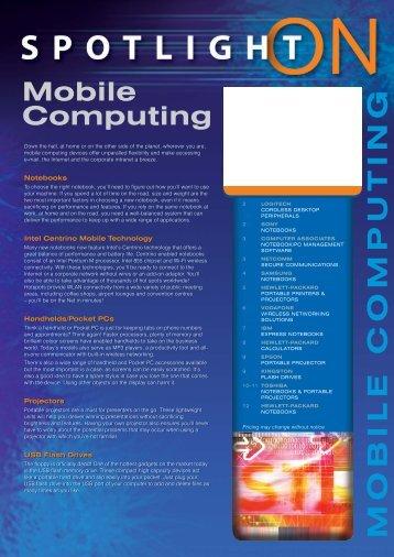 Spotlight on Mobile Computing - DP Computing