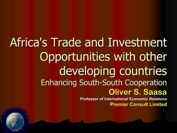 Africa's Trade and Investment Opportunities with other developing ...