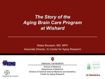 slides from dr. boustani's presentation - Indiana CTSI