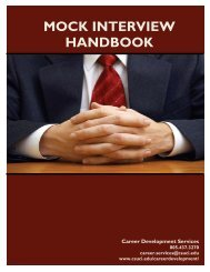 MOCK INTERVIEW HANDBOOK