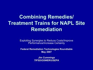 Combined Remedies - Federal Remediation Technologies ...