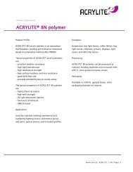 ACRYLITE® 8N product information (3463A) - ACRYLITE® acrylic ...