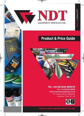 62508 NDT PRICE LIST 2011.indd - NDT Equipment Services Ltd
