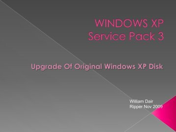 WINDOWS XP Service Pack 3 - MelbPC Interest Groups
