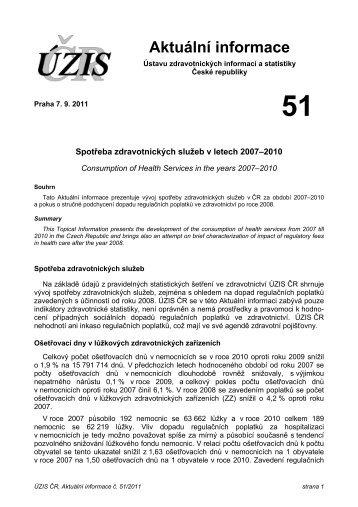 Aktuální informace č. 51/2011 - ÚZIS ČR