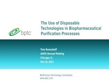 The use of disposable technologies in biopharmaceutical ...