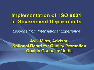ISO 9001 in Government Departments - Performance Management ...