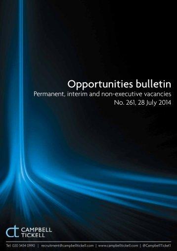 CT Opportunities Bulletin 261 280714