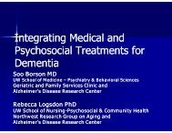 Integrating Medical and Psychosocial Treatments for Dementia