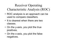 Receiver Operating Characteristic Analysis (ROC) notes.