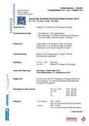 Kantonale Korbball-Sommermeisterschaften 2013 Ti / Tu / Ti U14 + ...