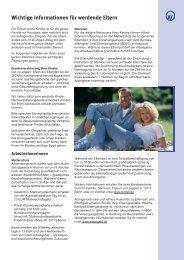 Wichtige Informationen für werdende Eltern