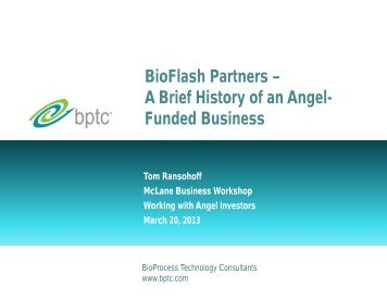 BioFlash Partners - BioProcess Technology Consultants