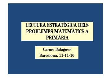 lectura estratègica dels problemes matemàtics a primària - Jordi Pujol