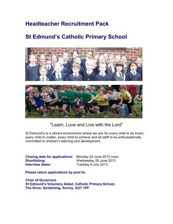 Headteacher Recruitment Pack St Edmund's Catholic ... - Eteach