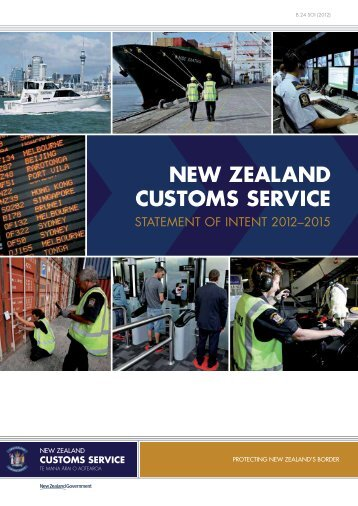 Statement of Intent 2012-2015 - New Zealand Customs Service