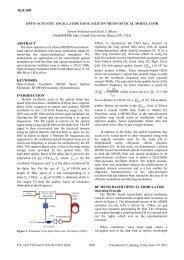 Opto-acoustic oscillator using silicon MEMS optical modulator