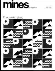 Energy Alternatives - Mines Magazine - Colorado School of Mines
