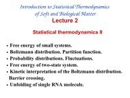 Introduction to Statistical Thermodynamics of Soft and Biological ...