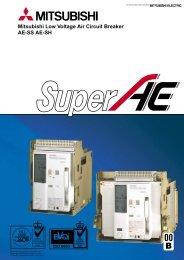Mitsubishi Low Voltage Air Circuit Breaker AE-SS AE-SH - Piti Group