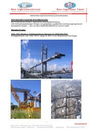 Ausgewählte Projekte - Geo Ingenieurservice Group