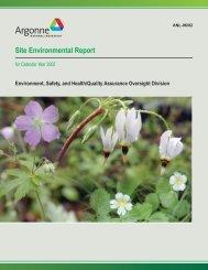 Site Environmental Report - Argonne National Laboratory