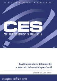 Working Paper CES VÅEM No 10/2006