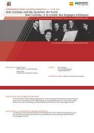 Jean Cocteau und die Sprachen der Kunst Jean Cocteau. A la ...