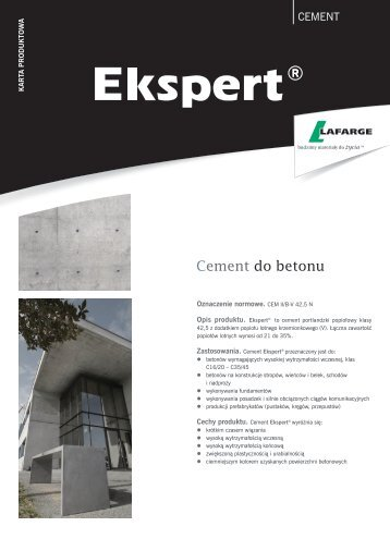 Cement do betonu - Lafarge