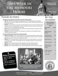 April 15, 2011 - Missouri House of Representatives