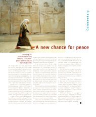 A new chance for peace