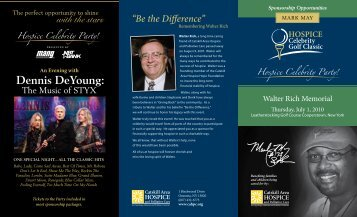 Dennis DeYoung: - Catskill Area Hospice and Palliative Care, Inc.