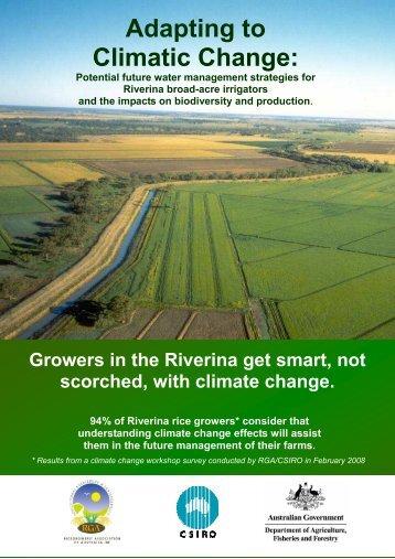 2008 Booklet final - Ricegrowers' Association of Australia