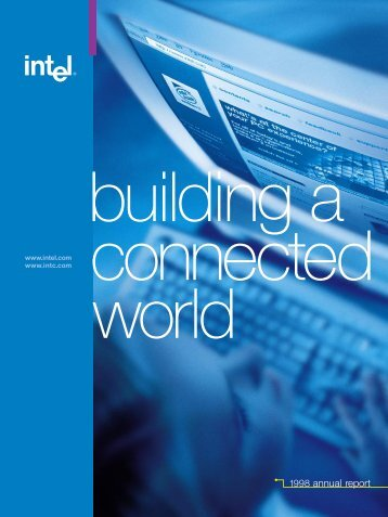 Intel Corporation Annual Report 1998