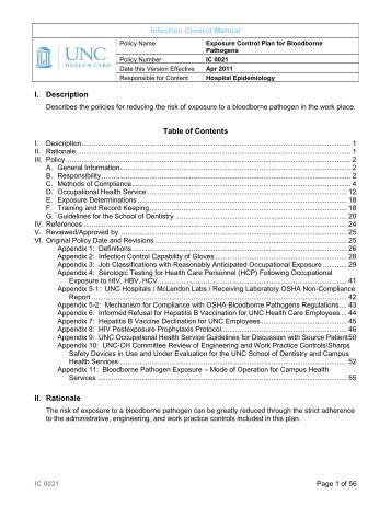 Bloodborne pathogens post exposure procedures for Bloodborne pathogens policy template