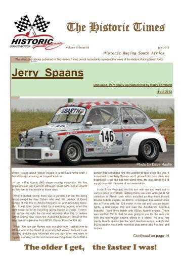 The Historic Times - Historic Racing South Africa